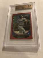 2013 BOWMAN CHROME MINI RED REFRACTOR COREY SEAGER RC JERSEY #5/5 BGS 9.5 GEM