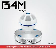 B4M ORB-Ice Silver  Bluetooth 4.1 Floating Sound Levitating Maglev Speak (NFC)