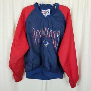 New England Patriots Vintage Game Day Logo 7 NFL Windbreaker Shirt Jacket Mens M