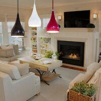 Modern Teardrop Lampshade Pendant Light Ceiling Lighting Chandelier Fixture