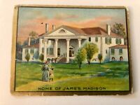 Helmar Turkish Cigarettes Historic Home Series 1 - 50 Home Of James Madison