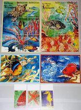 GUINEA 2001 2979-93 Block 641-42 1873-79 Marine Life Fish trop. Fische Fauna MNH