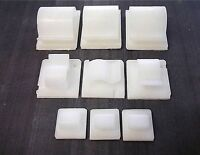 Self adhesive cable clips. Clear. White. Cables. Wires. Tubing. 16mm 25mm 33mm