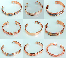 Pure Copper Magnetic Wrist Bangle/Bracelet for Painrelief Rheumatic Arthritis