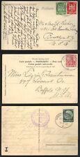 Germany 1909-1933 Three Paquebot P.C.s Seapost Bremen-