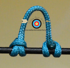 5 Pack Teal Release Bow String Nock D Loop Bowstring BCY #24