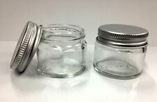 1 x 15ml Glass Jar with Aluminium Screw Top Lid - empty