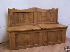 5FT OLD RECLAIMED PINE SPLIT SEAT MONKS SETTLE STORAGE BENCH CAN MAKE ANY SIZE