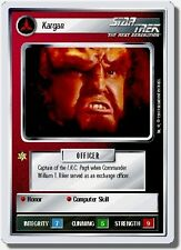 Star Trek CCG Premiere WB Unlimited Kargan