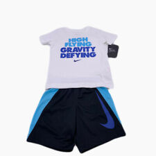 New Nike Boys 2 Piece T-Shirt Shorts Set Outfit Size 4