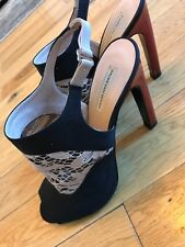 Dries van noten shoes 39 1/2 black, with tan lace, perfect condition.