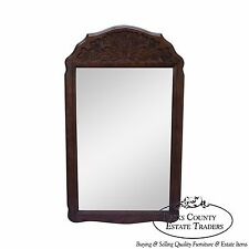 Solid Oak Frame French Country Style Hanging Wall Mirror
