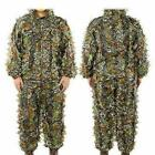 3D Ghillie Suit Set Sniper Train Leaf Jungle Forest Wood Hunting Camouflage NEW
