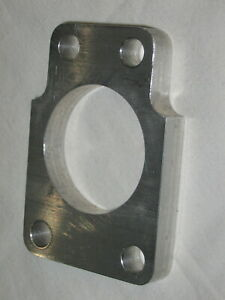 """Linkert 4 Bolt Carb Spacer / Flange , Billet Aluminum, 3/8"""" Thick, for Harley"""