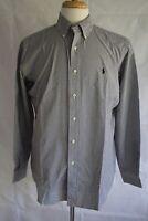 RALPH LAUREN Men's Long Sleeve Classic Fit Button Down Dress Shirt Size M