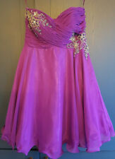 Stunning Purple Beaded Corseted Formal Occasion Dress sz 10 From Ruby Prom
