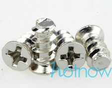100pcs Silver Computer PC Case Fan Mounting Screw for 50mm 60mm 80mm 100mm 120mm