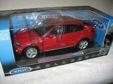 BMW X6 RED  1:18 SCALE  WELLY DIECAST METAL MODEL W/ OPENING HOOD DOORS AND REAR