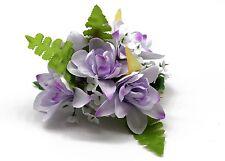 Hawaii Hair Clip Lei Party Luau Tuberose Flower Dance Beach Photo Purple