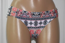 NEW Becca Rebecca Multi Belly Dancer Ruched Tab Side Hipster Bikini Bottom XL