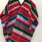 ADULT MEXICAN PONCHO SERAPE SALTILLO COSTUME FIESTA ONE SIZE FITS ALL Unisex
