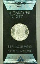1883-CC GSA Hoard Morgan Silver Dollar $1 Coin ANACS MS-63 with Box & COA (AA)