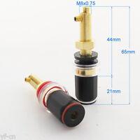 4pcs High Quality Pure Copper HiFi Amplifier Speaker Terminal Binding Post 65mm