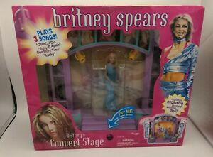 Britney Spears Concert Stage Playset Vintage Plays 3 Songs New Never Opened