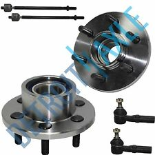 NEW 2 Front Wheel Hub & Bearing Assembly ABS 2WD + 4 Tie Rod End Set for Dodge
