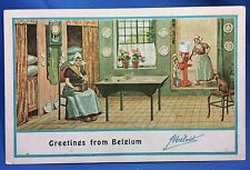c. 1910 MELLOTTE CREAM SEPARATOR Co Belgium Advertising Postcard Cat Antique