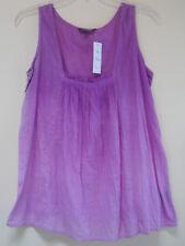 Chaudry KC Lilac Purple Cotton Blend Light Shirt Blouse Tunic Tank Top Sz S