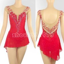 Figure Skating Dress Women's / Girls' Ice Skating Dress Spandex red flowers