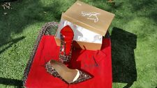 "SZ 39.5 Christian Louboutin ""So Kate Strass Leopard 120"" Suede Burma Brown Moka"