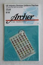 Archer 1/35 US 1st Cavalry, 63., 66., 83., 86. Infantry Division Patches FG35033