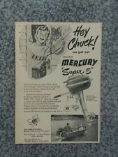 VINTAGE 1950 KIEKHAEFER MERCURY SUPER 5 OUTBOARD MOTOR ADVERTISEMENT