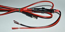 2.1mm DC power cable with fuse and write-on marker (LD151)