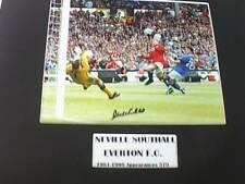 EVERTON F.C. 4 Signed Photographs, Kendall, Southall, Snodin, Ainscow