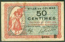 NECESSITE 50 CENTIMES VILLE DE COLMAR   ETAT: TTB   lot 226