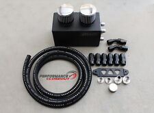 Blackworks Racing BWR Black Oil Catch Can / Breather Box Kit Honda Acura B16 B18