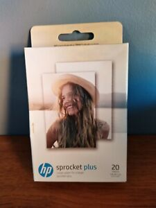 """HP Sprocket Plus Sticky-backed Paper 20 Sheets (5.8 x 8.7cm) [2.3 x 3.4""""] 2LY72A"""