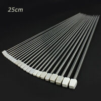 11Pair 2mm-8mm Stainless Steel Single Pointed Knitting Needles 25cm Tool Kits