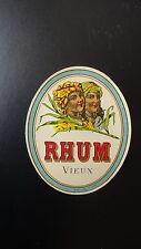 ANCIENNE ETIQUETTE ALCOOL RHUM VIEUX JOUNEAU PARIS N°406