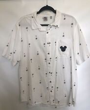 Disney Junk Food Mickey Mouse Camp Hawaiin Shirt Men's Size Large