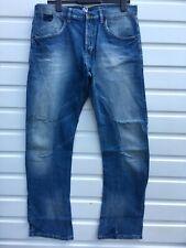 Men`s New JACK & JONES Twisted Leg Jeans W31-L30 Engineered Cinch Back SECONDS
