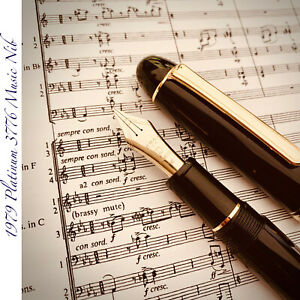 1979 PLATINUM 3776 MUSIC NIB 14K DOUBLE SLIT 3-TINE RARE JP VINTAGE FOUNTAIN PEN
