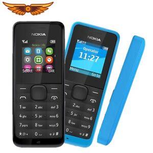Nokia 105 - Black blue red Single card (Unlocked) Cellular Phone