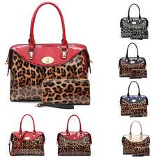 Leopardo Diseñador De Las Señoras Bolso De Mano Cartera & a Juego Conjunto Broche Bolso de hombro MA36515
