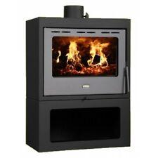 Wood Burning Stove Solid Fuel Fireplace Modern Log Burner Prity Panorama 13 kw