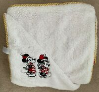 Authentic Disney Store Mickey and Minnie Mouse Holiday Throw Blanket NEW NWT