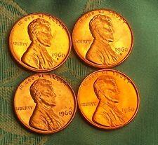 1960-P/D LINCOLN MEMORIAL CENT'S ( SD/LD )  SET ( 4 COINS )